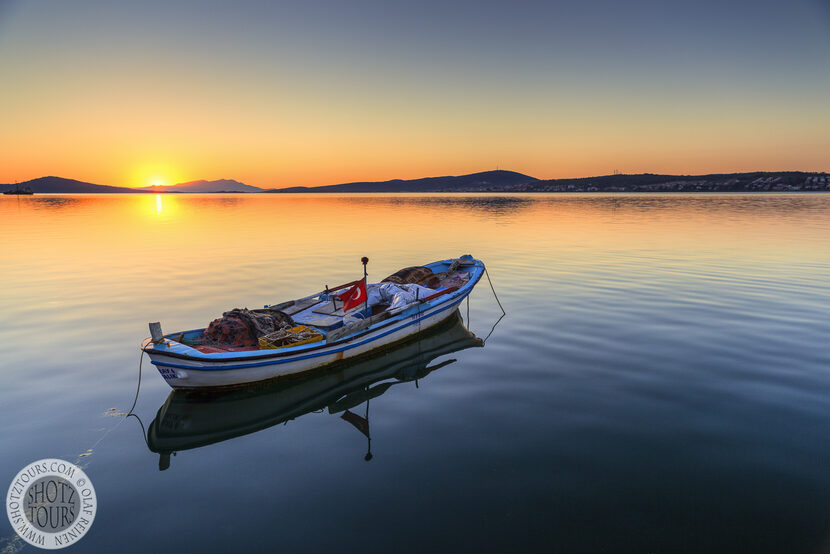 Fishing Boat at sunset in Turkey. © Olaf Reinen / ShotzTours.com